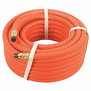100 ft. Nitrile Oil Resistant Multipurpose Air Hose, Max. Pressure: 250 psi, Red