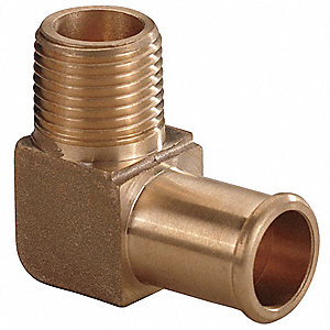 Hose Barb,1/2 In Barb,1/2 In MNPT,Brass