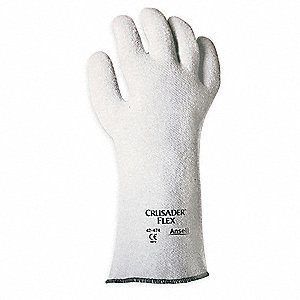 Heat Resistant Gloves, Nitrile, 400°F Max. Temp., 9, PR 1