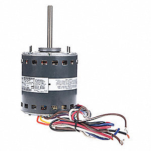 1 HP Direct Drive Blower Motor, Permanent Split Capacitor, 1075 Nameplate RPM, 115 Voltage