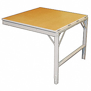 "Work Table, 48"" Width, 12 ga. Steel100 lb. Per Sq Ft Load Rating"