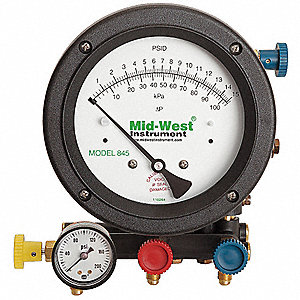 Backflow Preventer Test Kit, 5 Valve, Includes: Analog Test Gauge, Pressure Gauge, (3) 5 ft. Hoses,