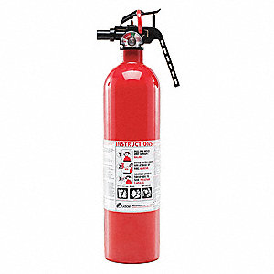 Dry Chemical Fire Extinguisher with 2.5 lb. Capacity and 8 to 12 sec. Discharge Time