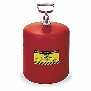 5 gal. Type I Safety Can, Used For Flammables, Red&#x3b; Includes Metal Fittings, Flame Arrestor