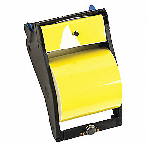 "Black/Yellow Vinyl Film Label Tape Cartridge, Indoor/Outdoor Label Type, 90 ft. Length, 4"" Width"