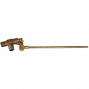 "Pipe-Mount Float Valve with Threaded Outlet, 1/4""-20 Rod Thread, Bronze"