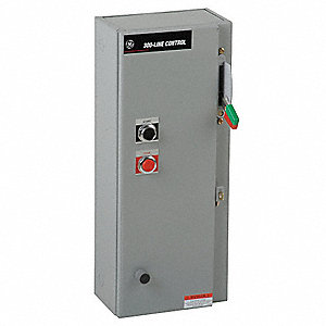 120VAC Selector Switch NEMA Circuit Breaker Combination Starter, Enclosure NEMA Rating 12, 27 Amps A