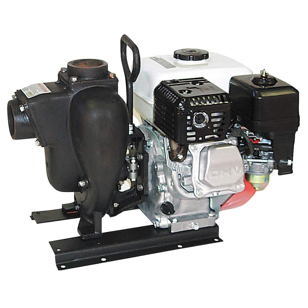 5 5 HP Cast Iron 160cc Engine Driven Centrifugal Pump, 3 3 qt  Tank Capacity