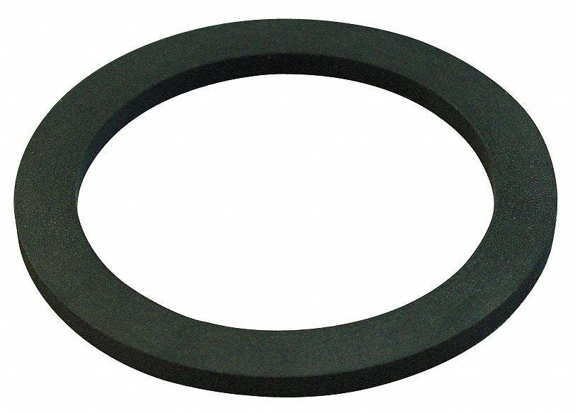 Nozzle Gasket,  2-1/2 in,  EPDM,  Black,  For Use With Female Adapters
