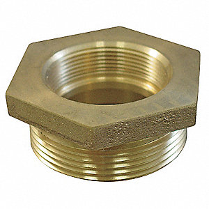 Fire Hose Hex Bushing Adapter, Nonswivel Adapters Fittings Sub-Category, NH Female x MNPT Connection