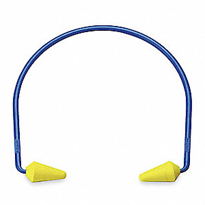 17/20dB Hearing Band with Pod, PVC/Silicone/ABS Plugs, Yellow