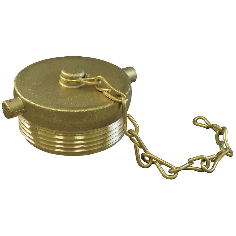 Moon 661-2521 Brass Fire Hose Fitting Plug 2-1//2 NH