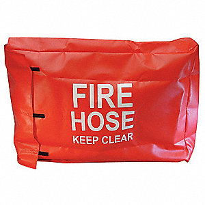 Fire Hose Cover,18 In.L,4 In.W,Red