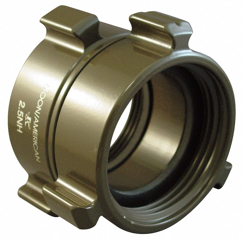 "MOON AMERICAN 356-1522521 Fire Hose Adapter,1-1//2/"",NH,2-1//2/"",NH"