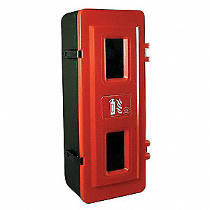 Fire Extinguisher Cabinet,20 lb,Blk/Red