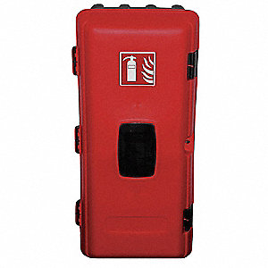 Fire Extinguisher Cabinet,10 Lb,Blk/Red