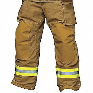 "PBI®/Kevlar®Turnout Pants, Size: 2XL, Fits Waist Size 46 to 48"", 28"" Inseam"