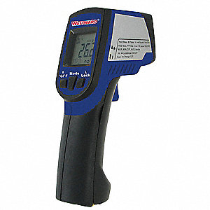 LCD Infrared Thermometer, Laser Sighting: Dual, -76° to 1022° Temp. Range (F)