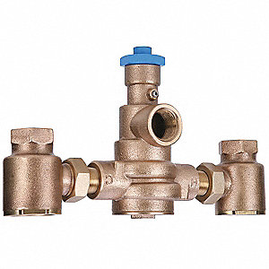 "3/4"" FNPT Inlet Type Mixing Valve, Brass, 1 to 71 gpm"