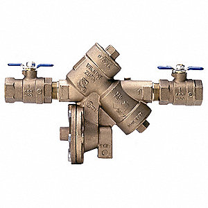 Reduced Pressure Zone Backflow Preventer, Bronze, Wilkins 975XL Series, FNPT X FNPT Connection