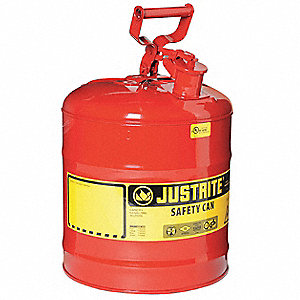 5 gal. Type I Safety Can, Used For Flammables, Red&#x3b; Includes Full Fisted Grip Handle