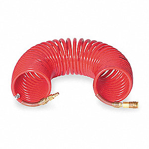 Coiled Airline Hose,50 ft. L,Nylon