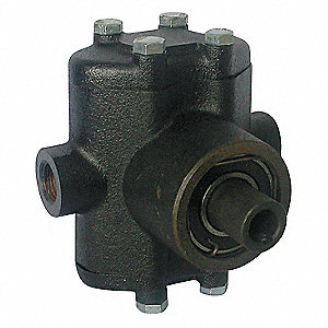 500 psi Twin-Piston Pump, 3 gpm, Hollow Shaft Type