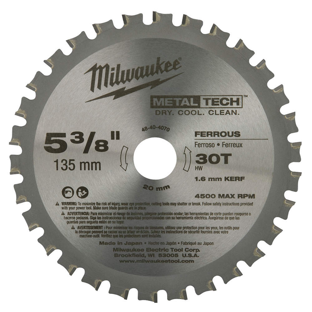 Milwaukee 5 38 carbide metal cutting circular saw blade number of zoom outreset put photo at full zoom then double click greentooth Images