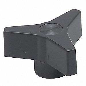 Three Prong Knob,1-1/8,1/4-20X3/8 Thru