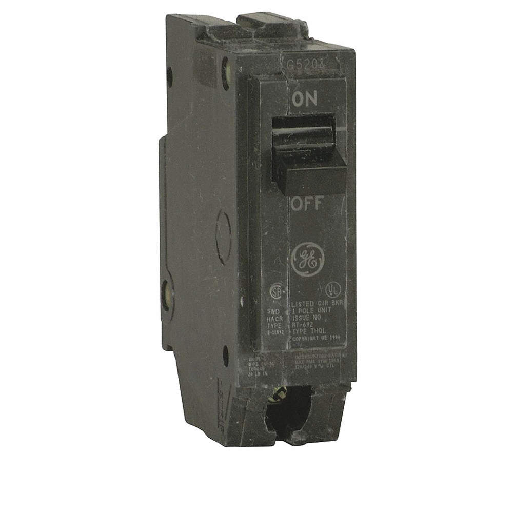 GENERAL ELECTRIC Unit Mount Circuit Breaker, THQC, Number of Poles 1 ...