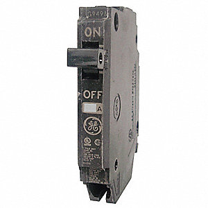 Plug In Circuit Breaker, THQP, Number of Poles 1, 40 Amps, 120VAC, Standard