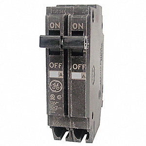 Plug In Circuit Breaker, THQP, Number of Poles 2, 15 Amps, 120/240VAC, Standard