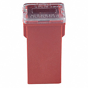 50A Time Delay, Nonindicating Plastic Fuse with 12VDC Voltage Rating; FMX Series, Red
