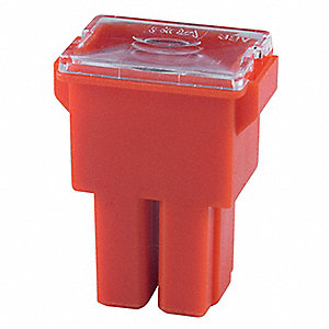 50A Fast Acting, Nonindicating Plastic Fuse with 32VDC Voltage Rating; FLF Series, Red