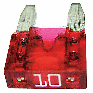 10A Fast Acting, Indicating Plastic Fuse with 32VDC Voltage Rating; ATM-ID Series, Red
