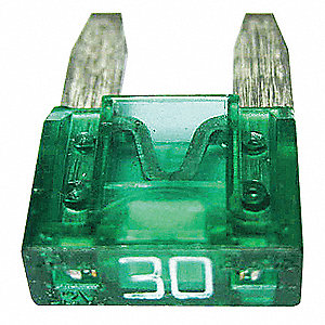 30A Fast Acting, Indicating Plastic Fuse with 32VDC Voltage Rating; ATM-ID Series, Green