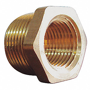 "Brass Reducing Bushing, MNPT x FNPT, 1/2"" x 3/8"" Pipe Size,  10 PK"