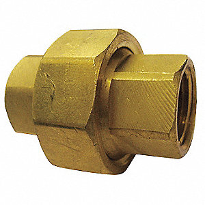 "Brass Union, FNPT, 3/8"" Pipe Size,  1 EA"