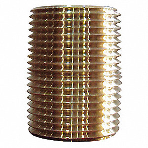 Close Nipple,Brass,1/2 In,PK10