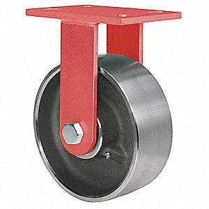 Plt Castr,Rgd,Forged Steel,6 in.,6000 lb