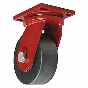 "8"" Plate Caster, 10,000 lb. Load Rating"