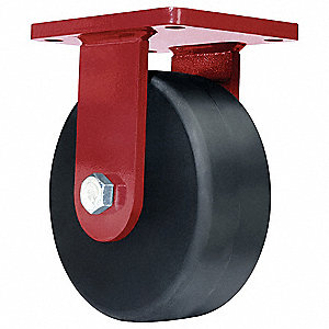 "8"" Extra Super Duty Rigid Plate Caster, 6500 lb. Load Rating"