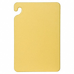 "Yellow Co-Polymer Cutting Board, 12"" x 18"" x 1/2"""