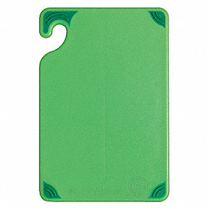 "6"" x 9"" Co-Polymer Cutting Board, Green"