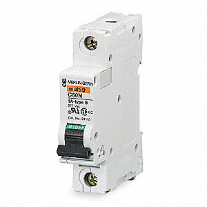 IEC Supplementary Protector, 4 Amps, Number of Poles:  1, 277VAC AC Voltage Rating