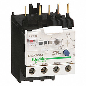 IEC Style Overload Relay, 5.5 to 8.0A, 3 Poles, Auto, Manual Reset, Trip Class: 10