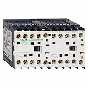 208VAC Miniature IEC Magnetic Contactor; No. of Poles 3, Reversing: Yes, 9 Full Load Amps-Inductive
