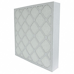 24x24x4, MERV 14, Fiberglass, Minipleat Air Filter Without Gasket, Die-Cut Frame