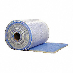 "Filter Media Roll, MERV 5, 65 ft. Length, 44-7/8"" Width, 1/2"" Thickness"