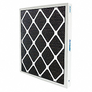 16x25x1 Activated Carbon Honeycomb Air Filter, Frame Included: Yes